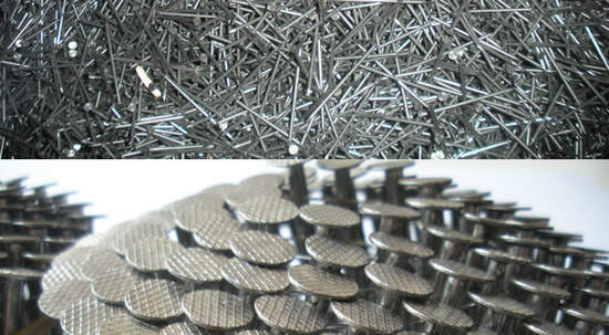 16,000 Box Coiled Nails 32mm Galvanised Ring Cone 16 Degree